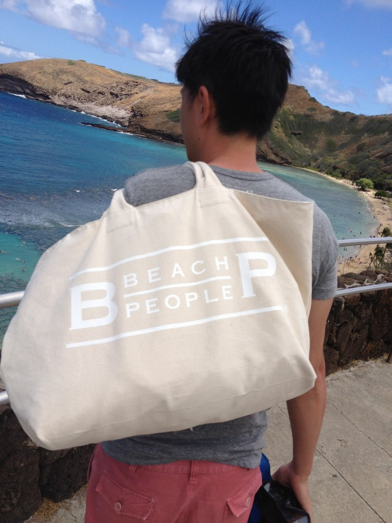BEACH PEOPLE オリジナル BEACH BAG 生成り 14.3oz