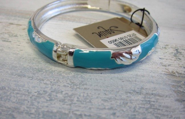 COASTRAL BANGLE BLUE SHELL