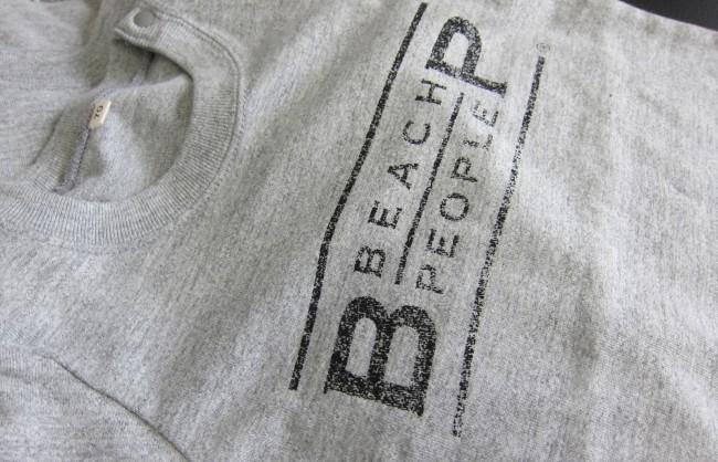 BEACH PEOPLE オリジナル ロンパース 杢グレー